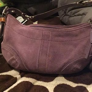 Coach Women's Suede Leather Bag